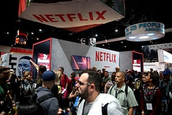 Netflix's booth at the 2017 San Diego Comic-Con