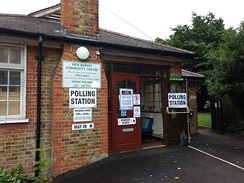 A polling station in north London