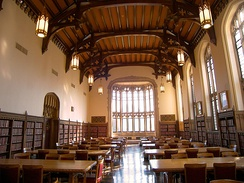 Great Reading Room inside Bizzell Memorial Library