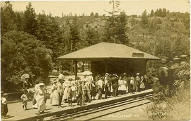 Mesa Grande train station, about 1910