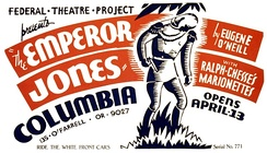 Poster for a 1937 Federal Theater Project production of The Emperor Jones