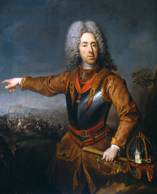 A portrait of Prince Eugene of Savoy, by Jacob van Schuppen.