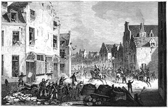 Fighting between Belgian rebels and the Dutch military expedition in Brussels in September 1830