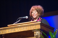 Ruby Bridges speaking at Texas A&M University–Commerce in February 2015