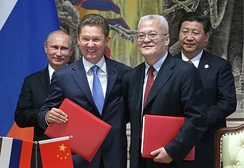 On May 21, 2014, Russia and China signed a $400 billion gas deal. Starting 2019 Russia plans to provide natural gas to China for the next 30 years.