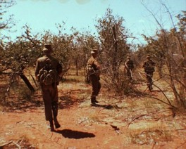 South African troops on patrol near the border, early 1980s.