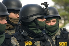 Marion County SWAT Team members during a training exercise.