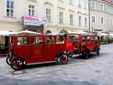 Tourist train Prešporáčik in the Old Town