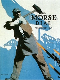 Hopper's prizewinning poster, Smash the Hun (1919), reproduced on the front cover of the Morse Dry Dock Dial