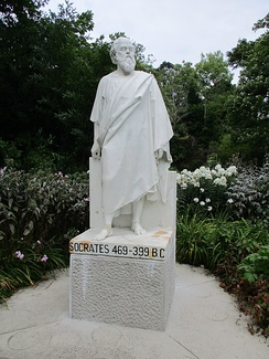 Statue of Socrates in the Irish National Botanic Gardens