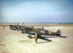 Mark VC Spitfires of No. 417 Squadron RCAF at Goubrine, Tunisia, May 1943