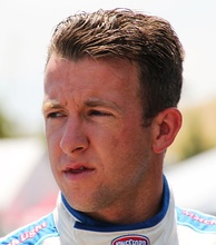 A. J. Allmendinger (pictured in 2015) won the preliminary race's pole position after posting a time of 28.706 seconds.