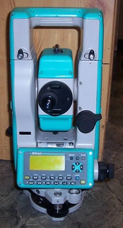 A typical modern electronic theodolite: Nikon DTM-520