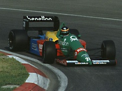 Boutsen driving for Benetton at the 1988 Canadian Grand Prix.