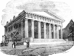 The building in a book published in 1875