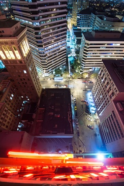 View from Tribune Tower at night