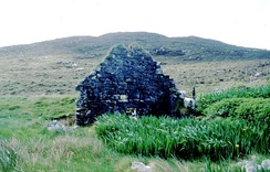 An abandoned watermill on Barra