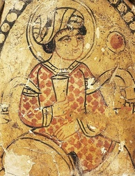 Fresco of Fatimid Caliph Al-Hakim (985–1021)