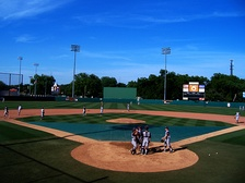 Oklahoma State's Allie P. Reynolds Stadium, the site of Harvard's third-place regional finish in 1997.
