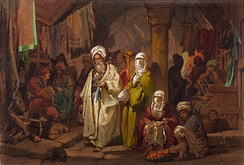 The Grand Bazaar, Istanbul, by Amadeo Preziosi, late 19th century