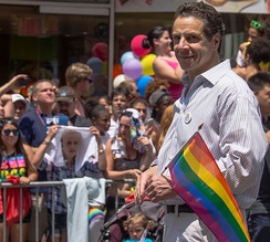 Cuomo at New York City's Gay Pride in 2013