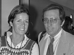 Williams with wife Claudine Longet in 1972