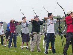 An archery competition.