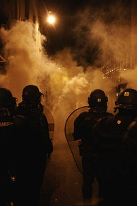 Tear gas in use in France in 2007