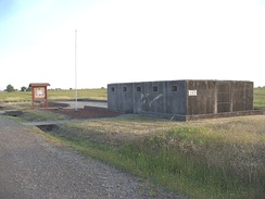 The remnants of a World War II German POW camp at Beale AFB. This cell block was used for isolation detention.