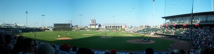 Panoramic Shot of the ballpark from July 2008