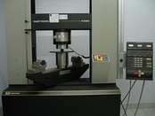 Compression test on a universal testing machine