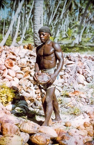 A Chagossian photographed by a US National Geodetic Survey team in 1969