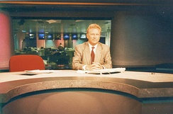 European Business News TV (EBN) with Ed Mitchell, London, in 1996.