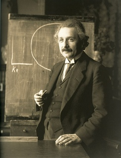 German-born scientist Albert Einstein (1879–1955) developed the theory of relativity. He also won the Nobel Prize in Physics in 1921 for his work in theoretical physics.