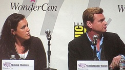 Emma Thomas and Christopher Nolan answer questions about Inception. The husband and wife team produced the film through their company Syncopy Films. Nolan also wrote and directed it.