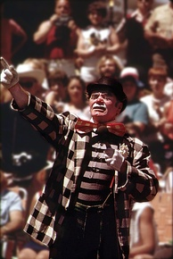 "Borgnine as ""Grand Clown"" in June 1973"