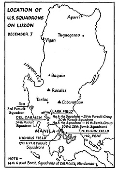 Far East Air Force deployment, 7 December 1941