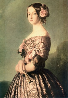 Francisca of Brazil, Princess of Joinville, 1850s. Painting by Franz Xaver Winterhalter