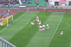 Tamás Hajnal's goal in 2010 FIFA World Cup qualification against Malta at Ferenc Puskás Stadium on 1 April 2009