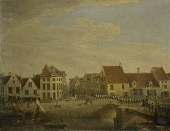 Dutch troops in the Flemish town of Dendermonde in 1820
