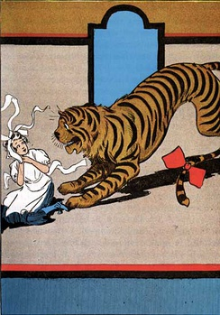 The Hungry Tiger. Illustration by John R. Neill.