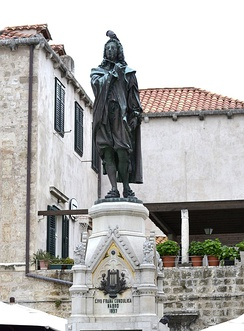 Monument to Ivan Gundulić in Dubrovnik