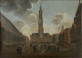 Market Square in Bruges by Jan Baptist van Meunincxhove, 1696