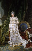 Napoleon's second wife, Marie-Louise (Empress Marie-Louise and the King of Rome, by Joseph Franque, 1812)