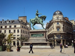 Statue of Joan of Arc, Place du Martroi