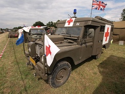 Originally British 109-inch SIII ambulance