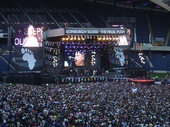 Live 8, a large, international series of benefit concerts staged in 2005