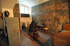 Marie Antoinette's cell in the Conciergerie where she was allowed no privacy.
