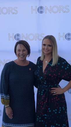 US Representative Martha Roby and Miranda Lambert, who was the RIAA's 2019 Artist of the Year, at an RIAA event in Washington, DC in 2019.