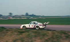 Jochen Mass (Martini Racing Porsche 935) during the 1976 Silverstone Six-Hours